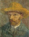 Vincent Van Gogh- Self portrait with straw hat